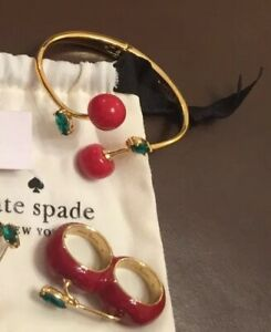 Kate Spade New York MA CHÉRIE Cherry 🍒 Ring And Bangle BNWT