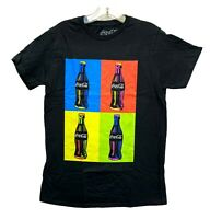 Coca-Cola Men's Coke Andy Warhol Style Painting Graphic Licensed T-Shirt New