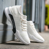 white casual mens sports shoes brand new