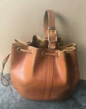 HERMES Vintage Market Bag Gold Used