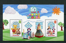 Australia 2016 MNH Play School 50 Years 2v M/S Teddy Bears Dolls Stamps