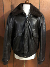 Mens Vintage COOPER G-1 Leather Shearling Flight Motorcycle Jacket