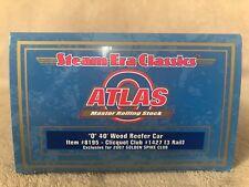 Atlas Item #8195 Clicquot Club #1427 (3 Rail) 40' Wood Reefer Car