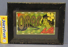 BEAUTIFUL OLD ART NOUVEAU OMAR CIGAR BOX LABEL ANTIQUE FRAME NOW ON SALE ADV333