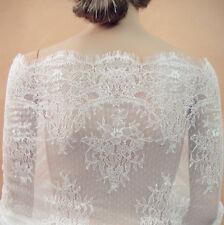 """Vestido de novia Tela de encaje de Chantilly nupcial 39"""" de ancho para y accesorios que cubrían"""