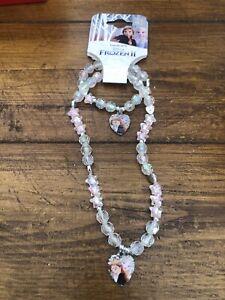 Disney Princess Girls Frozen Necklace & Bracelet Set Great Gift