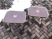 Vintage TV Tray Leather Eagle Emblem