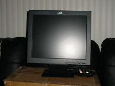 IBM Computer Monitor Flat Screen 17 inch LCD Black  Thinkvision Model 6734-ACO