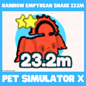Rainbow Empyrean Snake / Pet Simulator X / Roblox / New pet / Very strong
