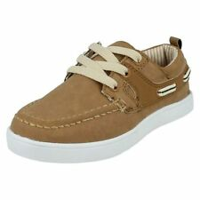 Chaussures décontractées marron à lacets pour garçon de 2 à 16 ans