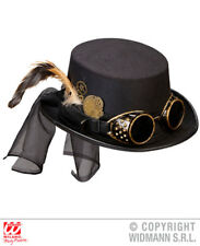 Steampunk Hat With Goggles & Clockwork Victorian Fancy Dress Costume Accessory