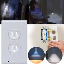 LED Wall Switch Outlet Face Hallway Bedroom Bathroom Night Light USA Plug Cover