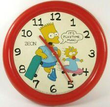 The Simpsons Vintage 1990 Collection Clock Horloge Les Simpson Bart Maggy Zeon