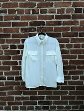 Designer Vintage LANVIN Paris Classic White Button Up Blouse Shirt