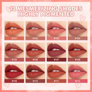 LEMOOC Lipstick Waterproof Moisturizing Lip Gloss Velvet Lip Makeup Matte Liquid