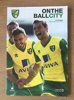 Norwich City v Chelsea Premier league 2013/14 Programme Mint + Team Sheet.