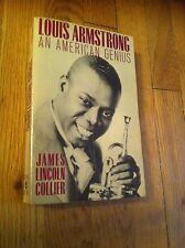 Louis Armstrong An American Genius  James Lincoln Collier 1985 Book Louie Jazz