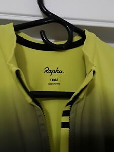 Rapha pro team long sleeve cycling jersey aero yellow colorburn A+++ Shape!