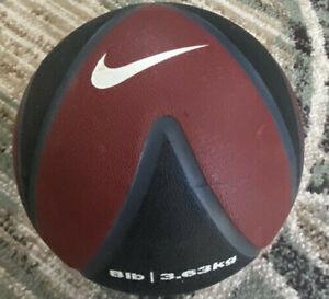 8 lbs pound Nike Medicine Ball Black & Red 3.63kg