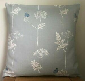Vanessa Arbuthnott **COW PARSLEY** Duck Egg/Cornflower Linen Cushion Cover 40cm