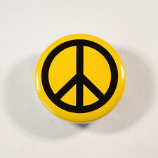 "PEACE SYMBOL PROTEST Badge/Button GIFT with METAL PIN ( Size is 1"" / 25mm)"