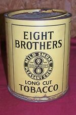 Old Eight Brothers Long Cut Tobacco Tin Smoking Chewing Vintage Bloch Bros Penn