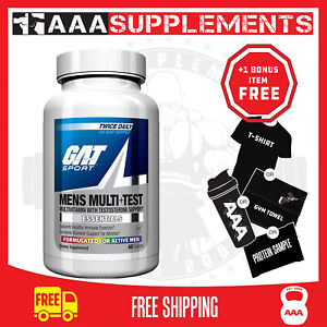 GAT- MENS MULTI VITAMIN + TESTOSTERONE | LIBIDO *BEST BEFORE 11/20* + FREE POST