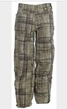 OAKLEY CHECKED OUT SKI SNOWBOARD PANTS PLAID SIZE XS NWT HAZEL
