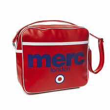MENS MERC LONDON TARGET MESSENGER FASHION AIRLINE BAG - RED