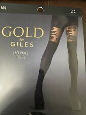 Lace Panel Tights Size M/L NEW COST £7.99
