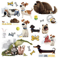21 SECRET LIFE OF PETS WALL DECALS Dogs Puppies Stickers BOYS Room Decor