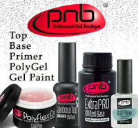 PNB Professional Nail Boutique Gel Polish Rubber Cover Base / Top No-Wipe Matte