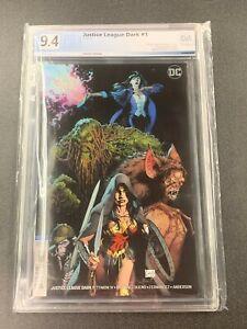 DC Comics Justice League Dark #1 Capullo Variant PGX 9.4 2018