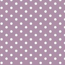Baumwollstoff Große Punkte Flieder METERWARE Webware Popeline Stoff Big Dots