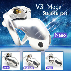 New Design 316 Stainless Steel HT V3 Handmade Chastity Device A380-SS