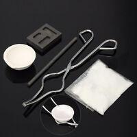 1Set/5PcsX Torch Melting Kit Gold&Silver Crucible Borax Tong Rod Graphite Ingot