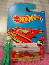 H2GO #84✰red/yellow/gold boat;Rescue UNIT✰HW RESCUE✰2017 i Hot Wheels case D/E