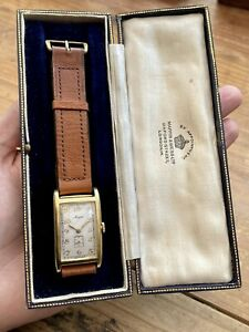 Vintage 1936 Men's Mappin By MOVADO *CURVIPLAN* 18k Solid Gold. Spares/Repairs.