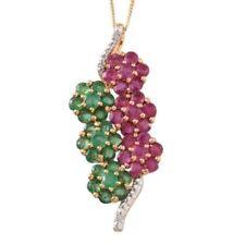 "Emerald Ruby 18 - 19.99"" Fine Necklaces & Pendants"
