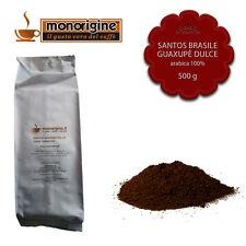 Caffè Arabica macinato fresco per espresso Santos Brasile Guaxupè Dulce 500 gr