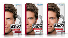 3 Just For Men AutoStop Mens Hair Colour Dye Restorer MEDIUM BROWN Colouring A35