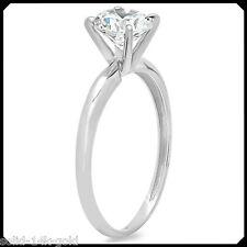 Tammy 1.00CT ROUND Diamond VVS1 14K White GOLD Solitaire Engagement Wedding Ring