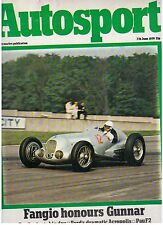 June Autosport Weekly Sports Magazines
