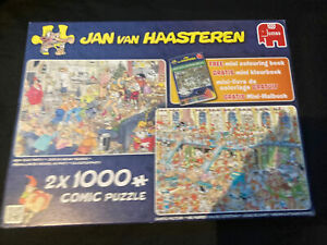 jan van haasteren 1000 piece jigsaws X 2 New Year Party/ Santas Factory Conplere