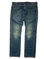 Levis 501 Mens 34 X 30 Medium Wash Straight Leg Denim Blue Jeans (Tag 32 X 30)
