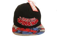THE AMAZING SPIDER-MAN BLACK SNAPBACK HIP HOP HAT CAP .. NEW