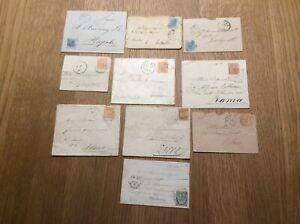 Lotto 172) 10 buste Regno dal 1874