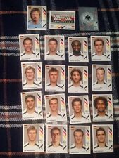 Panini World Cup 2006 Germany complete Set Of 19 Soccer Football Stickers