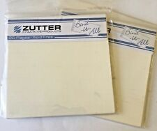 "Zutter Bind-It-All - 20 Precut Ivory 4"" Square Pages Each - 2 sets  - NEW"