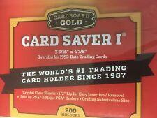 (200) Card Saver 1 Cardboard Gold (4 packs of 50)